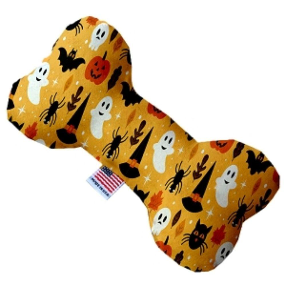 Happy Halloween Canvas Bone Dog Toy 10 Inch