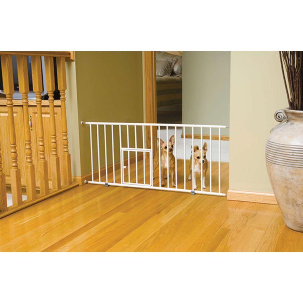 Mini Pet Gate W/door 29-32wx18h In White
