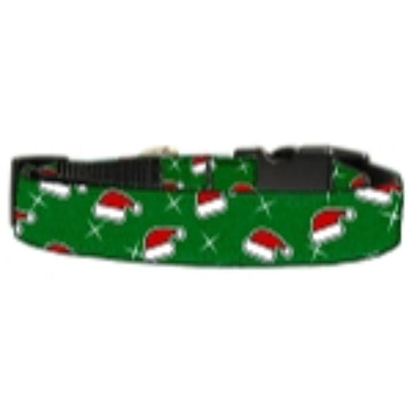 Santa Hat Nylon and Ribbon Collars Large
