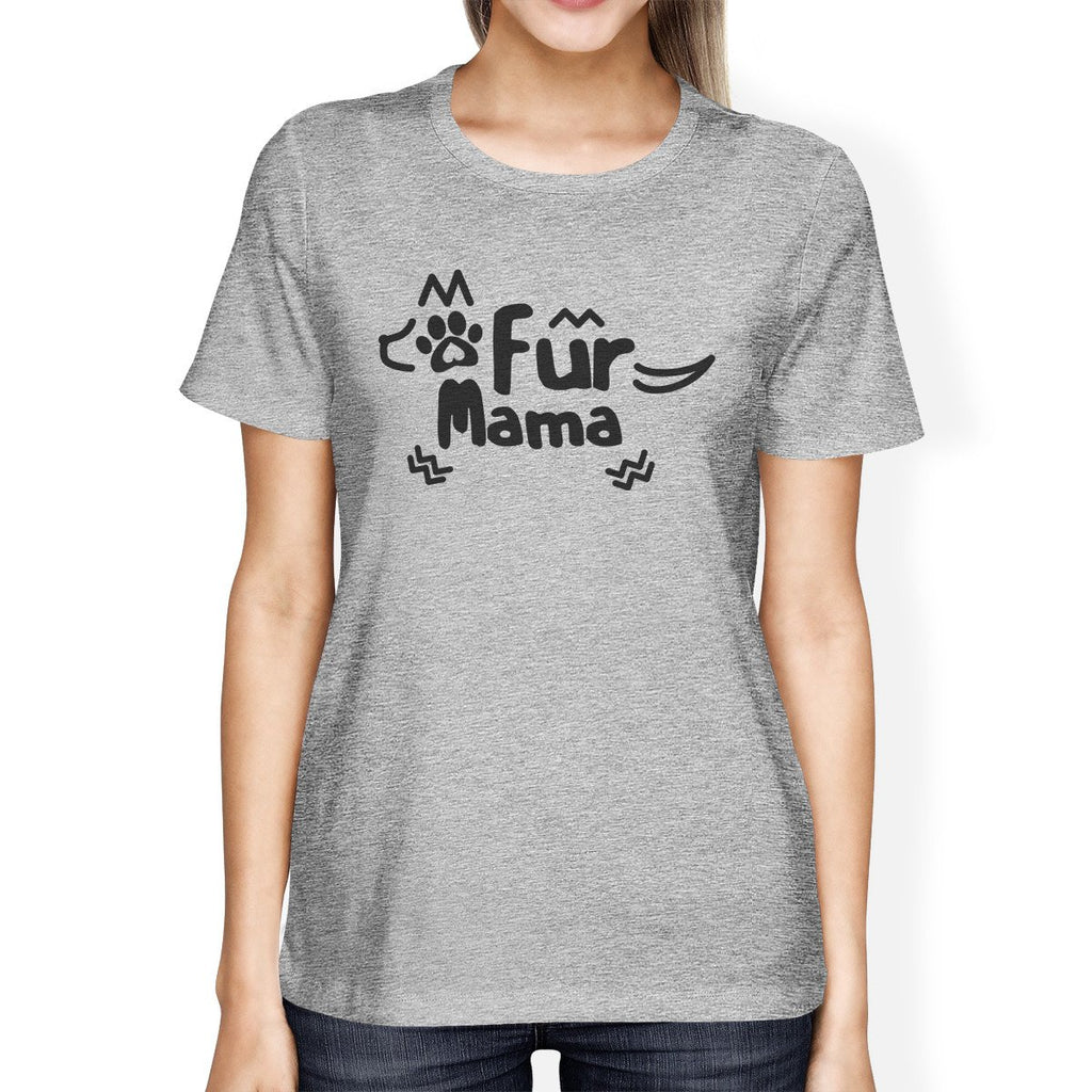 Fur Mama Grey T-Shirt SMALL