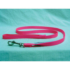 Single Thick Nylon Lead (Size 5/8 In X 6 Ft. Hot Pink)