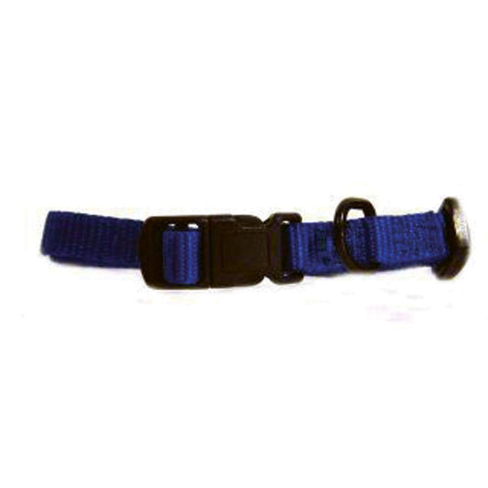 Adjustable Dog Collar (Size 3/8 X 7-12 In. Blue)