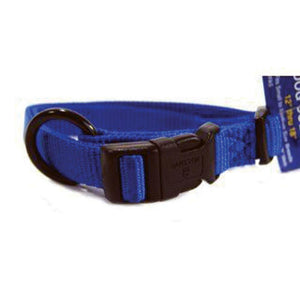 Adjustable Dog Collar (Size 5/8 X 12-18 In. Blue)