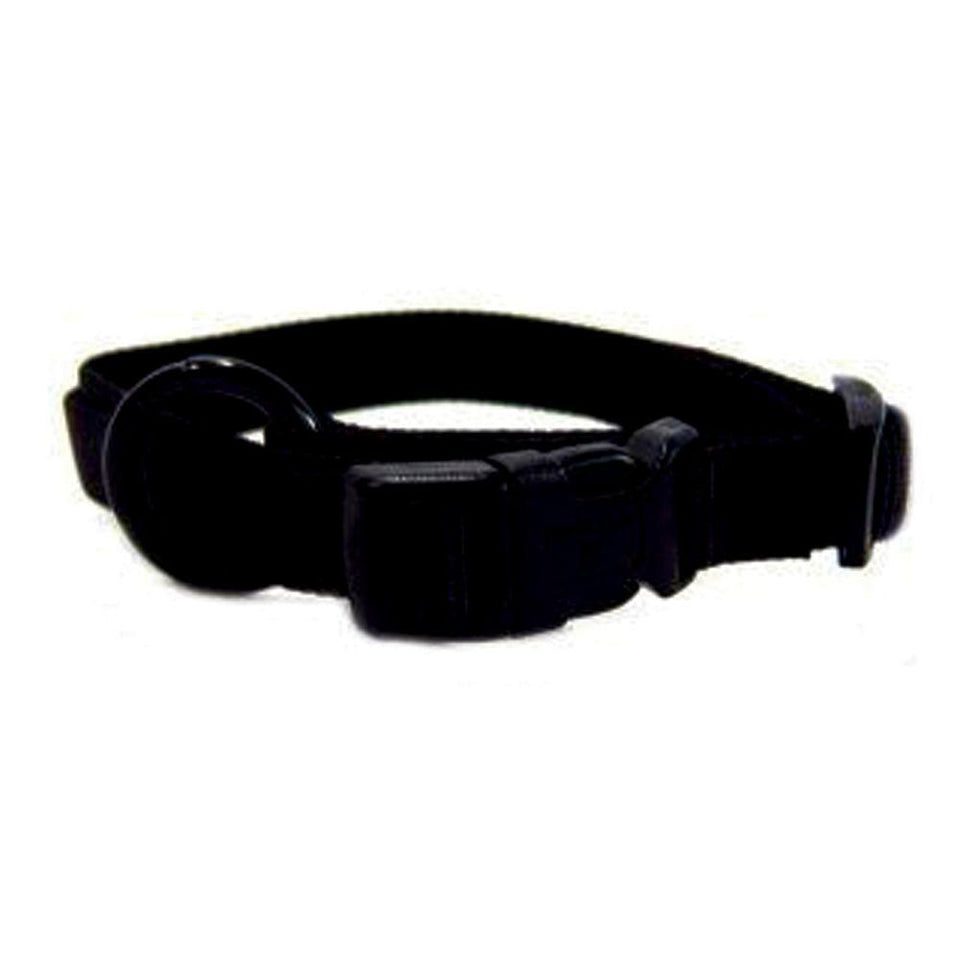 Adjustable Dog Collar (Size 5/8 X 12-18 In. Black.)