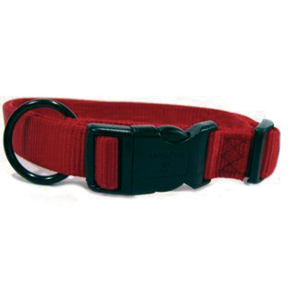 Adjustable Dog Collar (Size 1 X 18-26 In. Red)