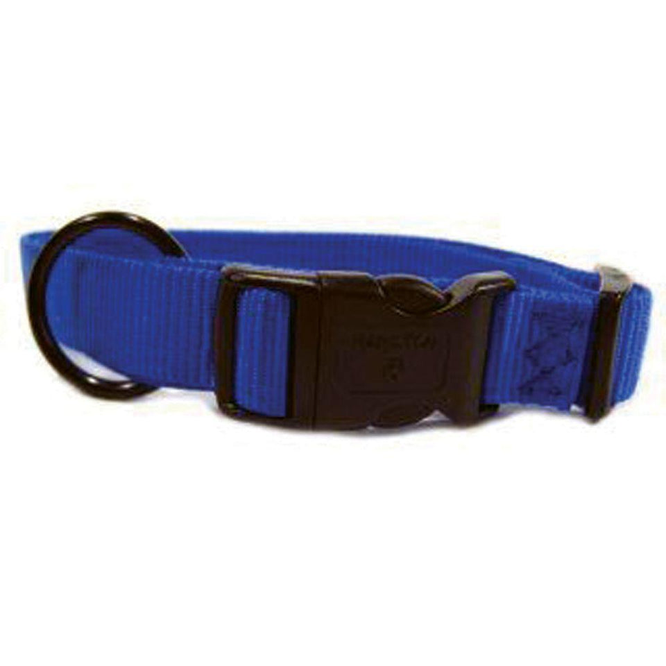 Adjustable Dog Collar (Size 1 X 18-26 In. Blue)