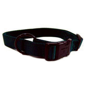 Adjustable Dog Collar (Size 1 X 18-26 In. Color Hunter Green)
