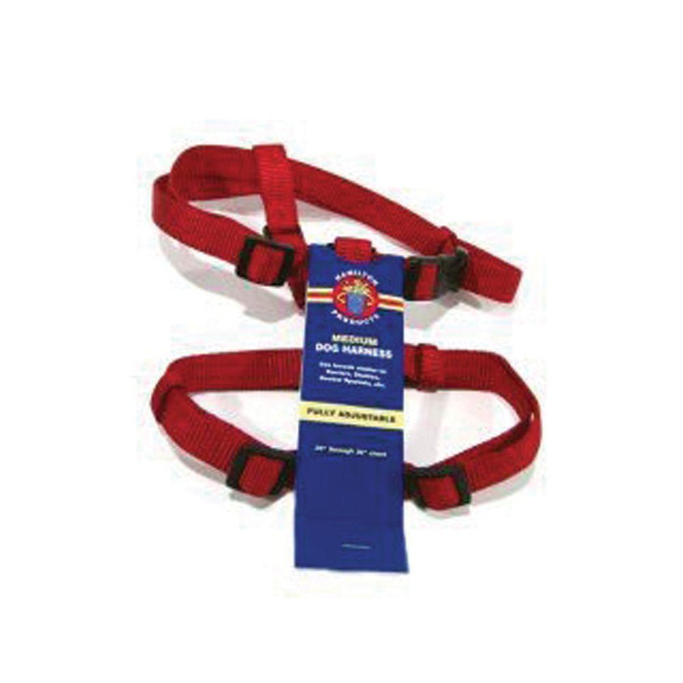 Adjustable Dog Harness (Size 3/4 X 20-30 In. Red)