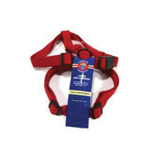 Adjustable Dog Harness (Size 1 X 30-40 In. Red.)