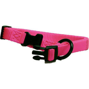Adjustable Dog Collar (Size 5/8 X 12-18 In. Hot Pink.)