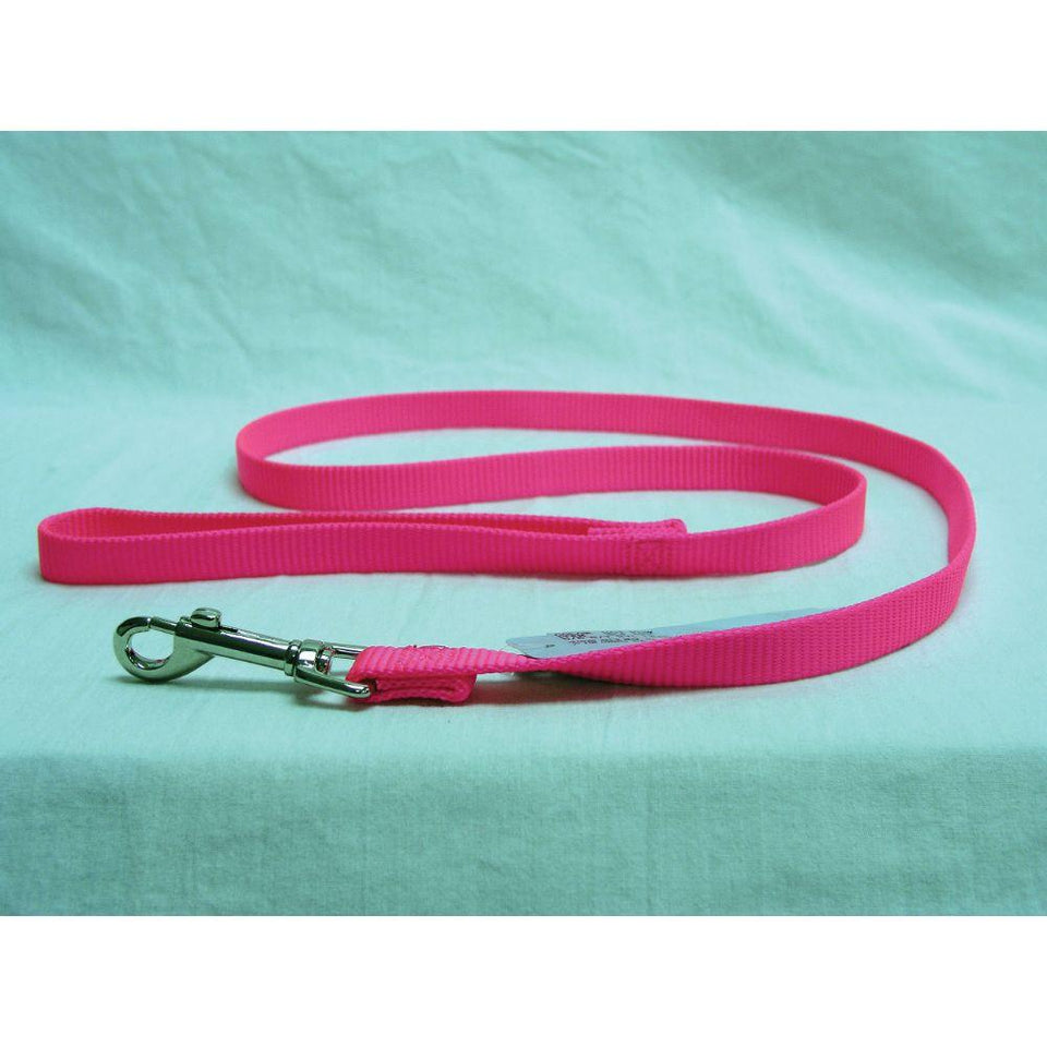 Single Thick Nylon Lead (Size 5/8 In X 4 Ft. Hot Pink.)