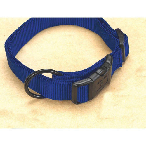 Adjustable Dog Collar (Size 3/4 X 16-22 In. Blue.)