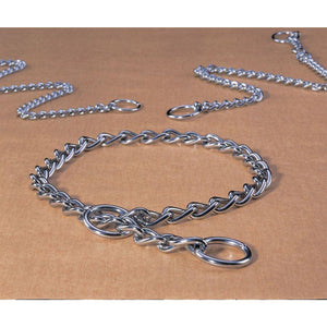 Extra Heavy Choke Chain Dog Collar (Size 24 In. Silver)