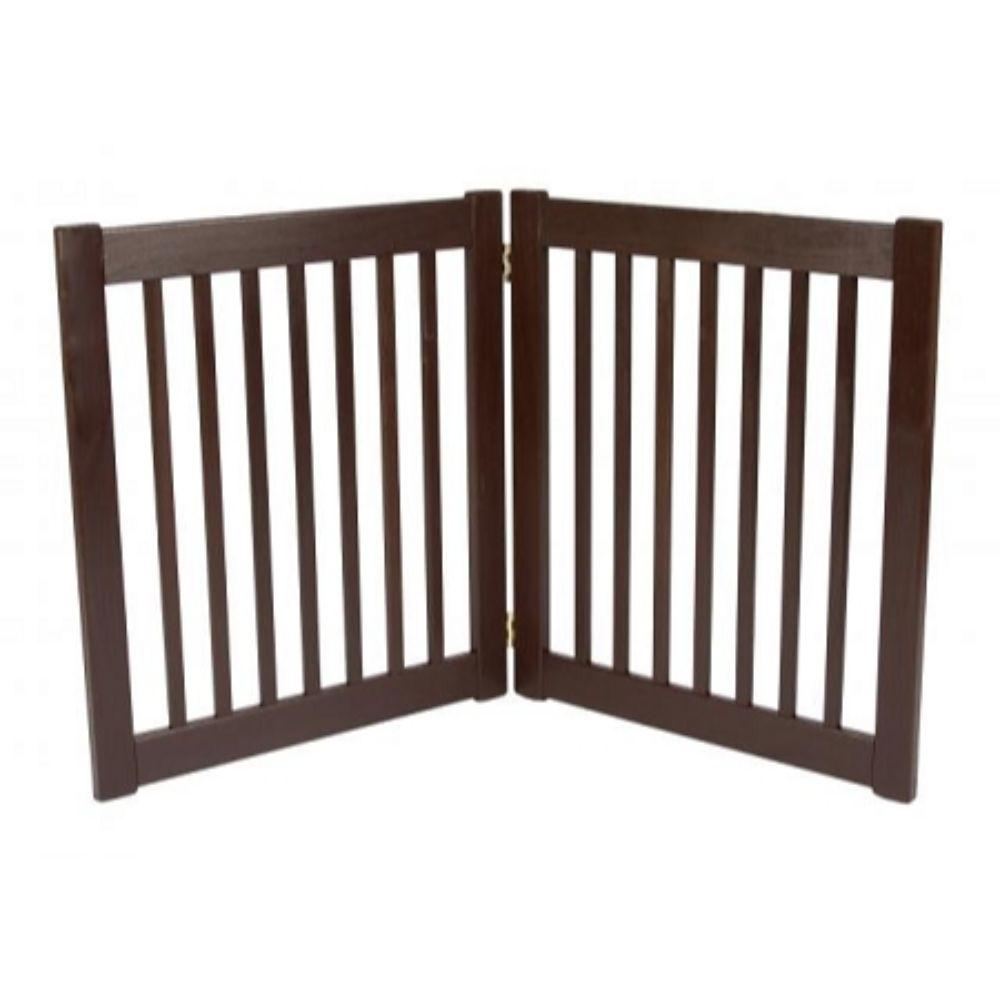 Two Panel EZ Pet Gate Mahogany 2 Panel - Small