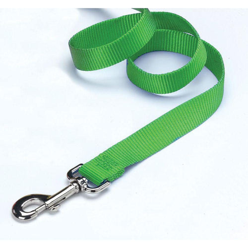 Single Thick Nylon Lead (Size 5/8 In X 4 Ft. Color Lime.)