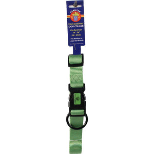 Adjustable Dog Collar (Size 1 X 18-26 In. Lime.)