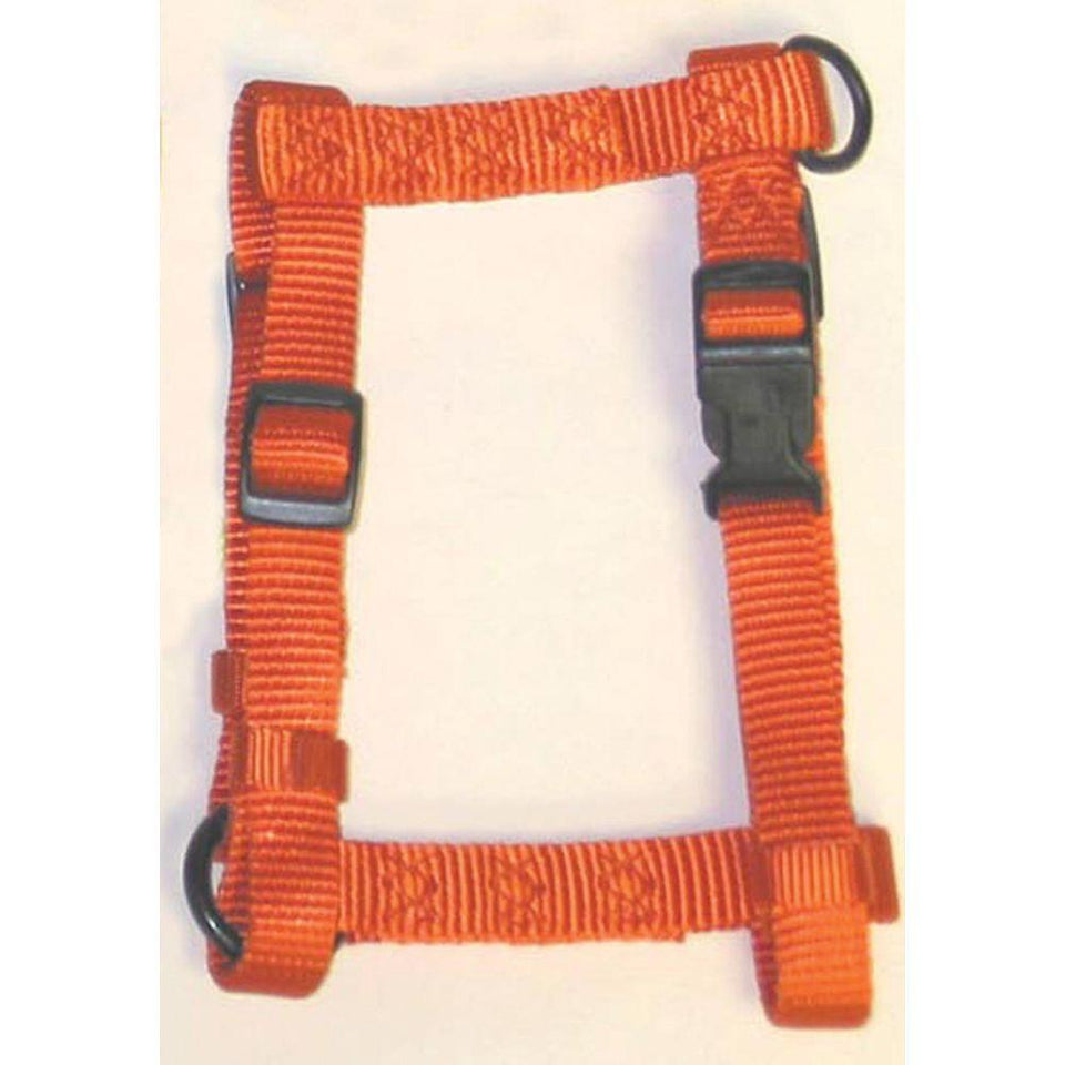 Adjustable Dog Harness (Size 3/4 X 20-30 In. Color Mango.)