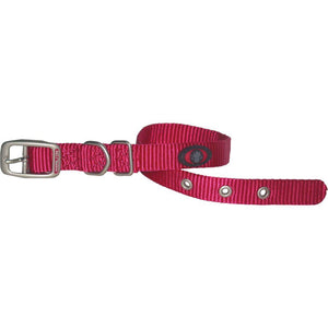 Single Thick Nylon Dog Collar (Size 5/8 X 18 In. Pink.)