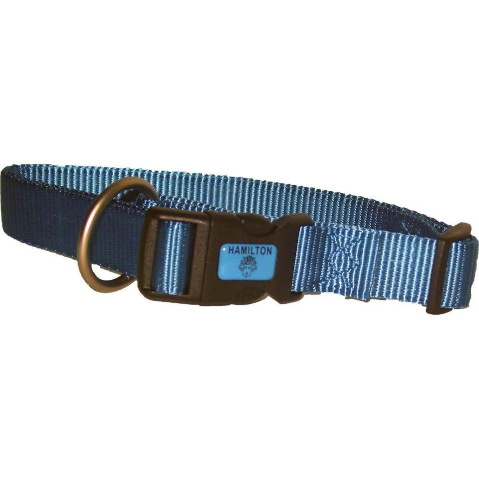 Adjustable Dog Collar (Size 3/4 X 16-22 In. Color Ocean.)