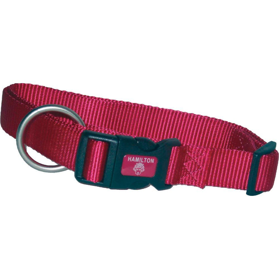 Adjustable Dog Collar (Size 3/8 X 7-12 In. Pink.)
