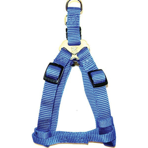 Adjustable Easy On Dog Harness (Size 3/4 X 20-30 In. Blue.)