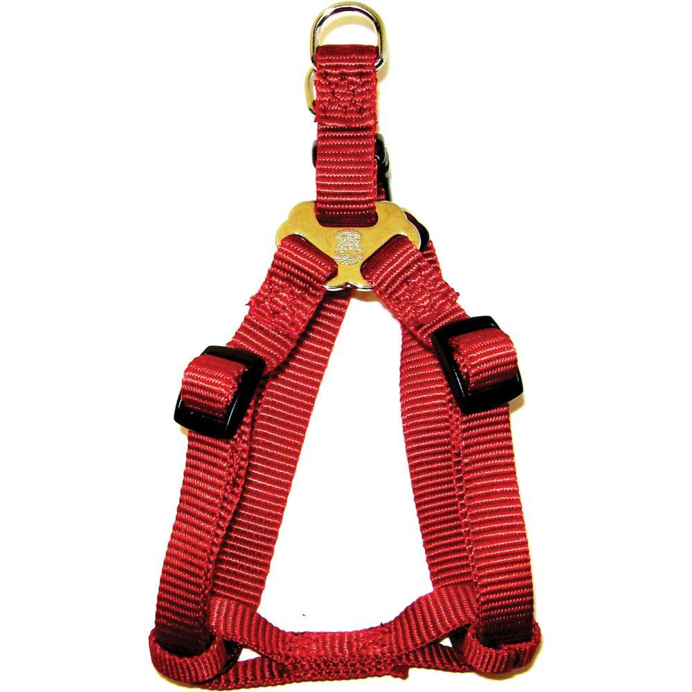 Adjustable Easy On Dog Harness (Size 3/4 X 20-30 In. Red.)