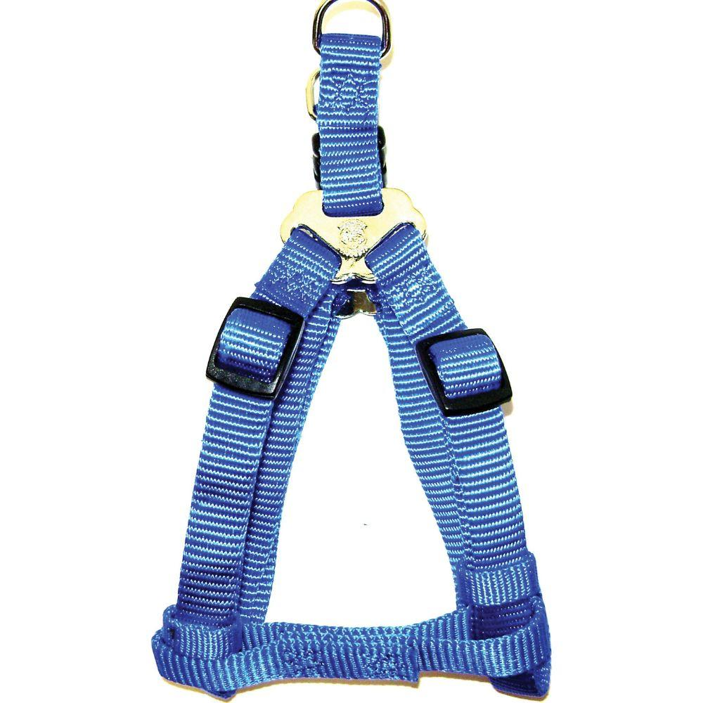 Adjustable Easy On Dog Harness (Size 3/8 X 10-16 In. Blue.)
