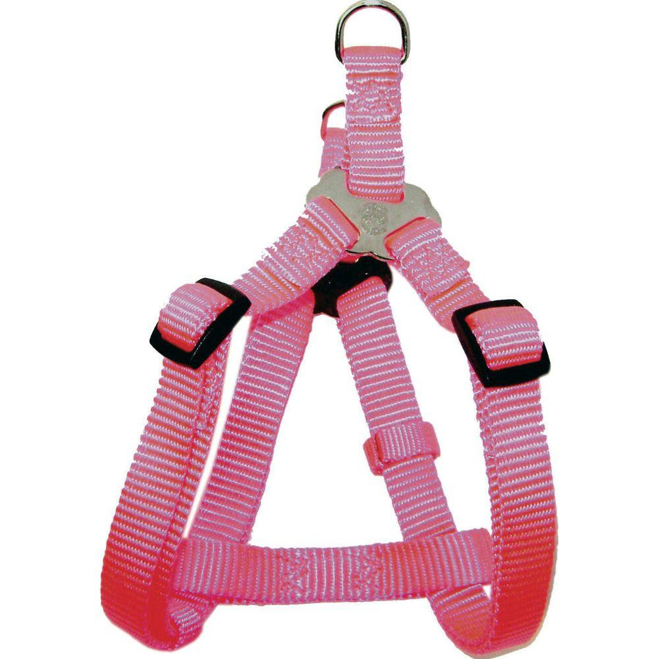 Adjustable Easy On Dog Harness (Size 3/8 X 10-16 In. Color Hot Pink.)