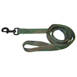 Single Thick Nylon Lead (Size 1 In X 6 Ft. Camo Green)