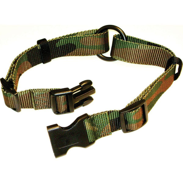 Adjustable Saferite Dog Collar 1 X 18-26 In Camo Green