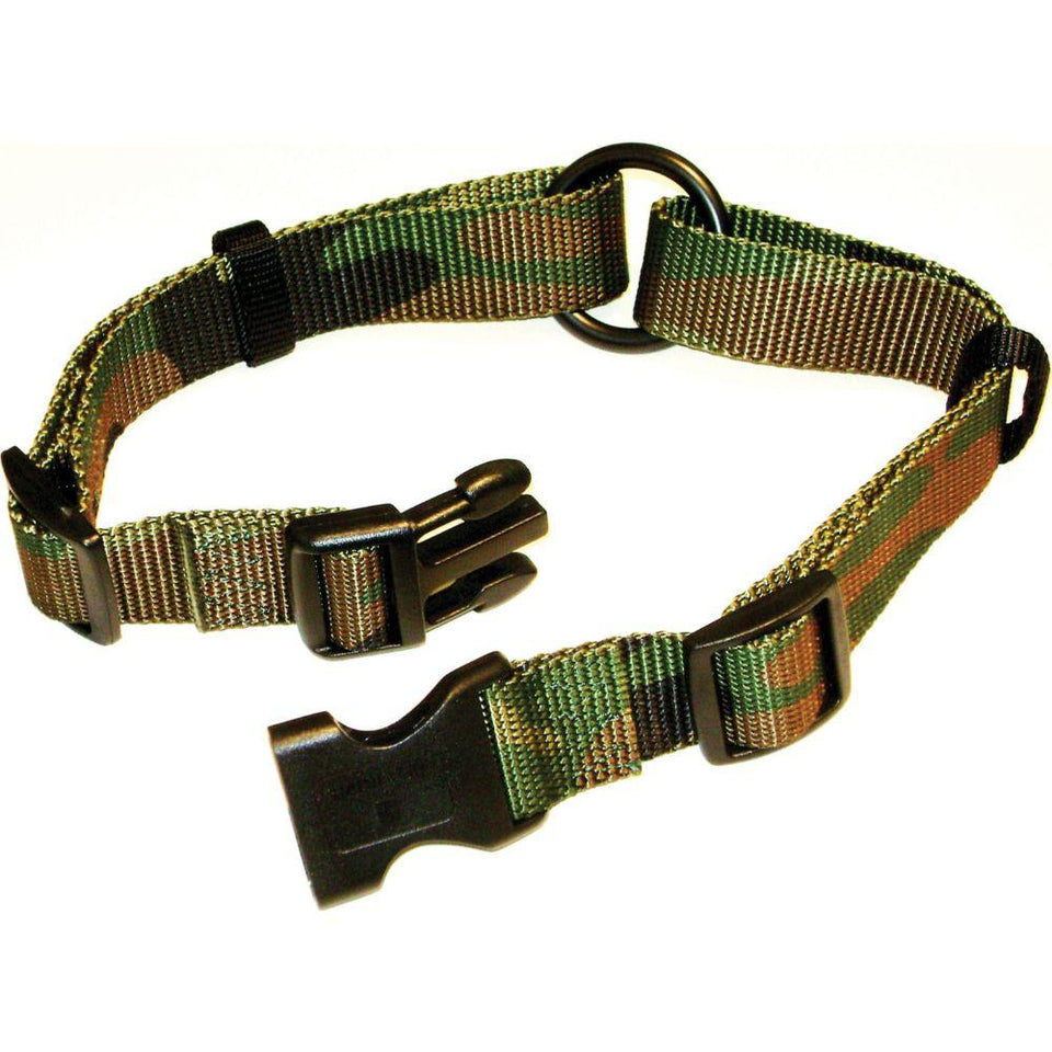 Adjustable Saferite Dog Collar (Size 1 X 18-26 In. Camo Green.)