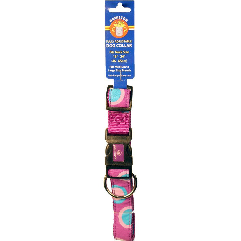 Ribbon Overlay 1x18-26 Adj Collar (Size Large. Pink)