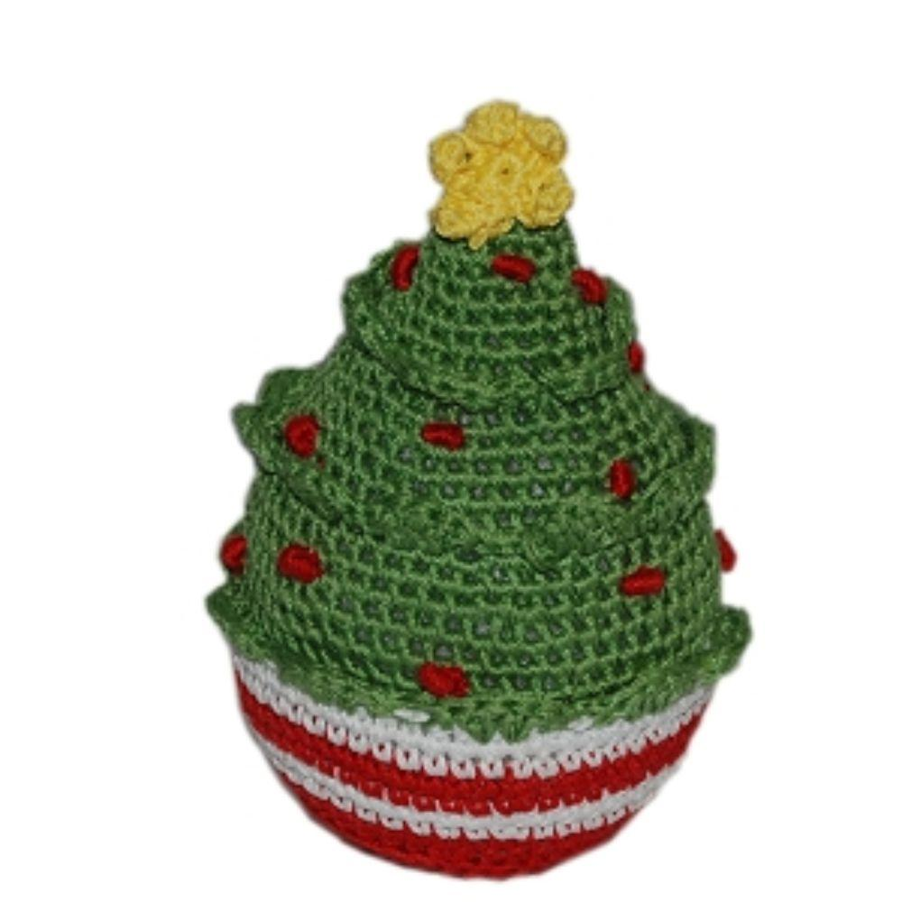 Knit Knacks Christmas Ornament Ball Organic Cotton Small Dog Toy