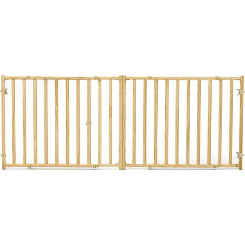 Extra-wide Wood Pet Gate
