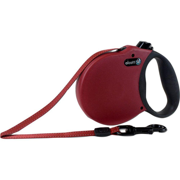 Alcott Retractable Leash Up To 110 Pounds Large/16 Ft Red