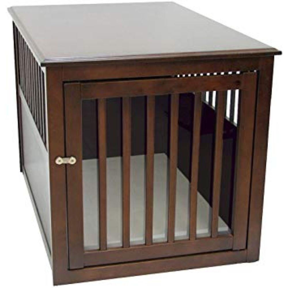 Dog Crate Table Espresso Large