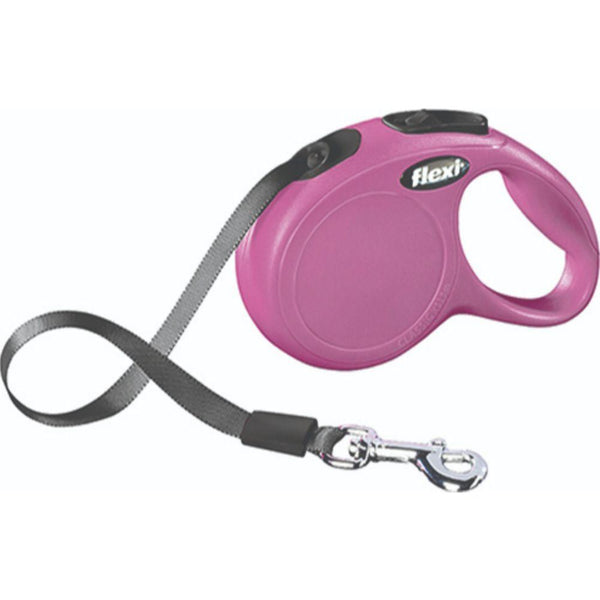 Classic X-small Tape Retractable Leash 26lb/10ft Pink