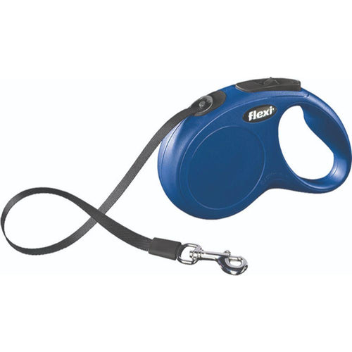 Clasic Medium Tape Retractable Leash Blue