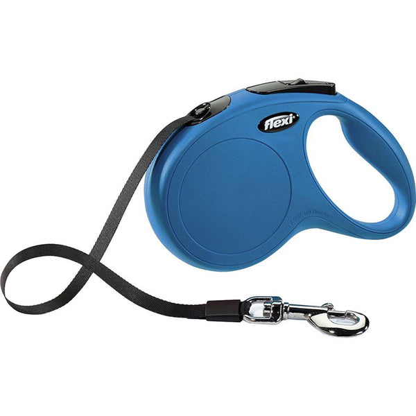 Classic Large Tape Retractable Leash Large 110lbs Blue