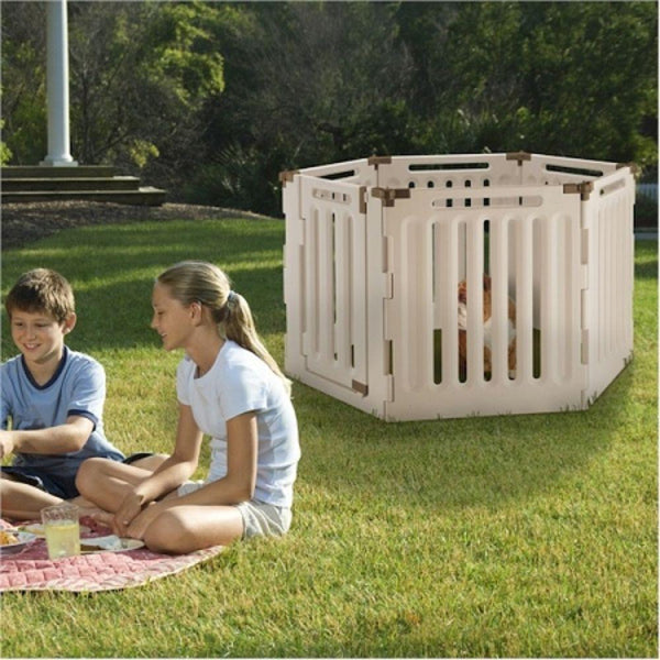 Convertible Indoor Outdoor Pet Playpen 4 Panel