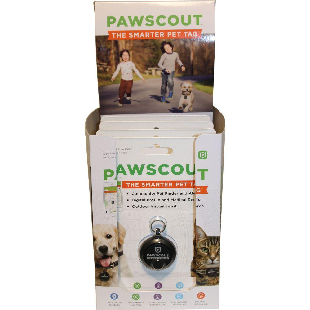 Pawscout Smarter Pet Tag Dog Cat Tag Display 4 Count