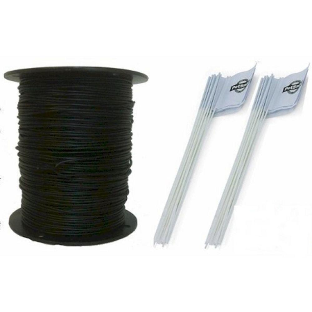 Essential Pet Heavy Duty In-Ground Fence Wire and Flag Kit 1000 ft.