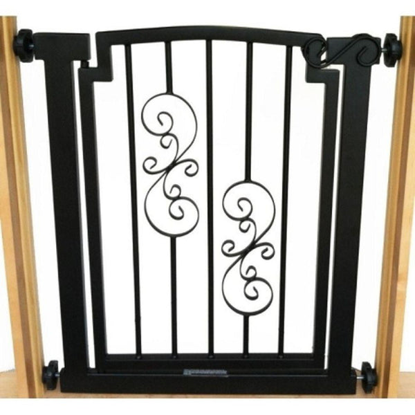Noblesse Doorway Dog Gate Black