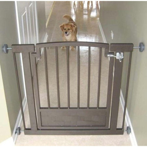 Royal Weave Hallway Dog Gate Black