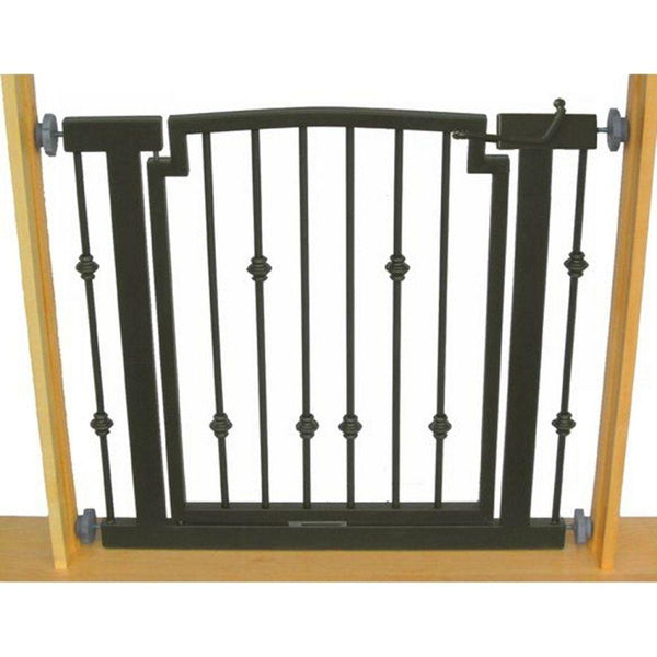 Emperor Rings Hallway Dog Gate Black