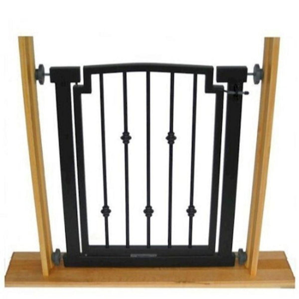 Emperor Rings Doorway Dog Gate Black