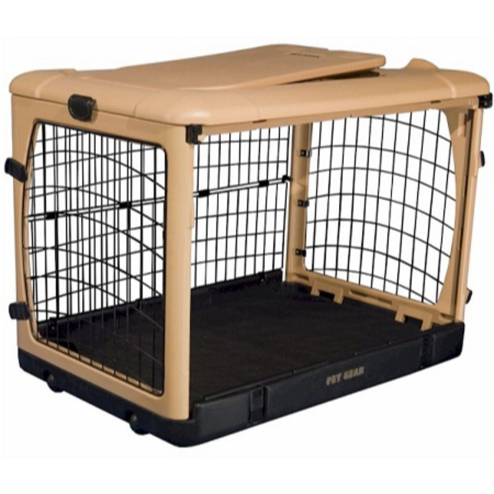 Deluxe Steel Dog Crate With Pad Small