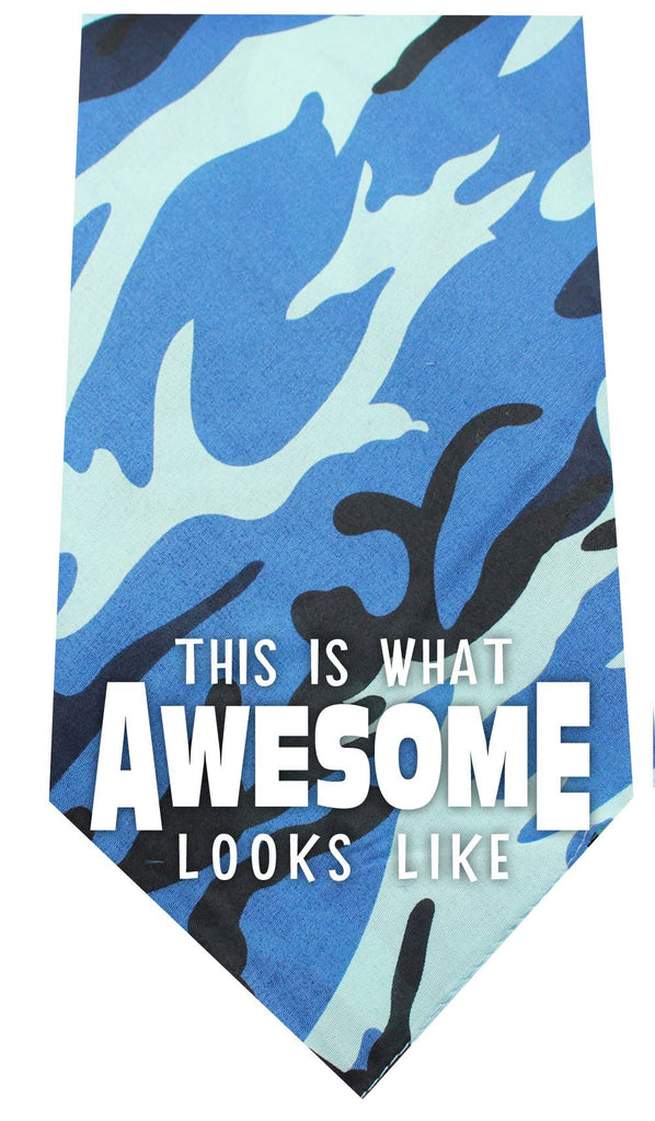 This is what Awesome Looks Like Screen Print Bandana Blue Camo