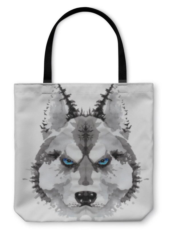 "Painted Husky Tote Bag 13"" inches wide"