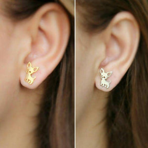 DOG IZ DOG Earrings Dainty Chihuahua Earring Studs